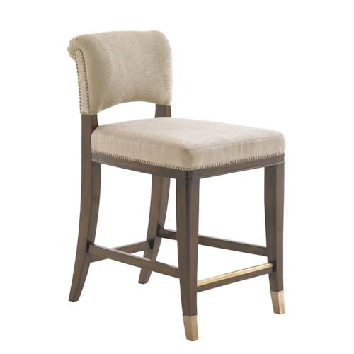 Lexington Tower Place Contemporary LaSalle Quickship Counter Stool in Kendall Fabric