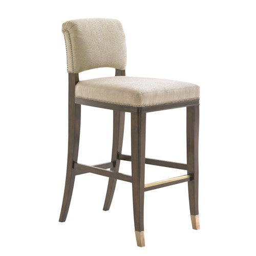 Lexington Tower Place Contemporary LaSalle Quickship Bar Stool in Kendall Fabric