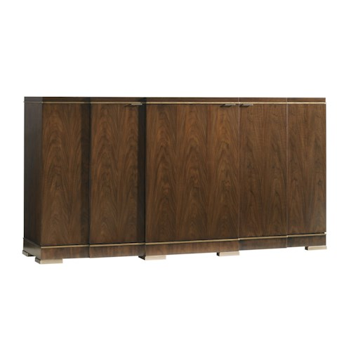 Lexington Tower Place Contemporary Highland Park Buffet with Adjustable Shelves and Silverware Storage