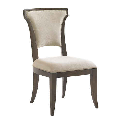 Lexington Tower Place Contemporary Seneca Side Chair with Married Kendall Fabric