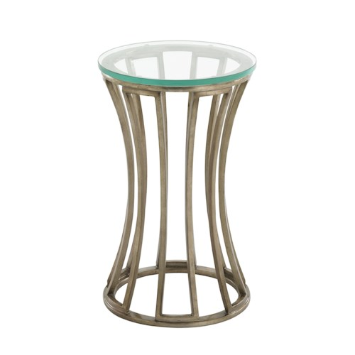 Lexington Tower Place Contemporary Stratford Round Glass Accent Table