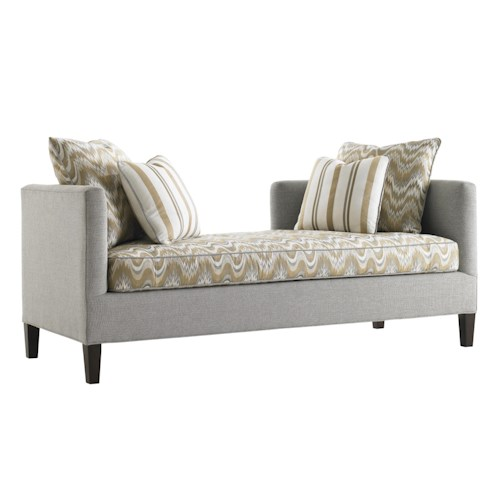 Lexington Tower Place Contemporary Backless Sebastian Settee