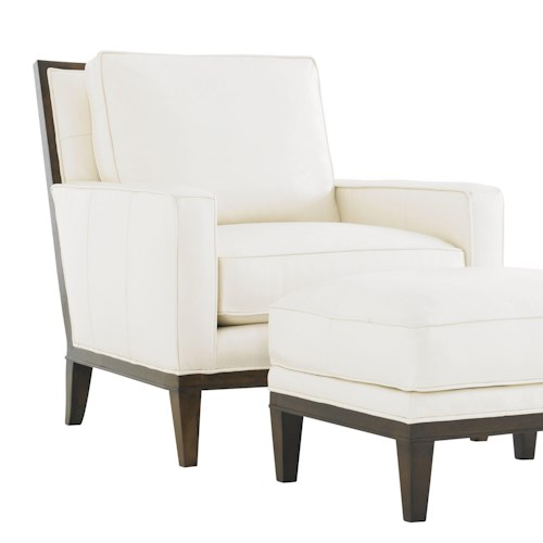 Lexington Tower Place Contemporary Gables Chair with Exposed wood Trim