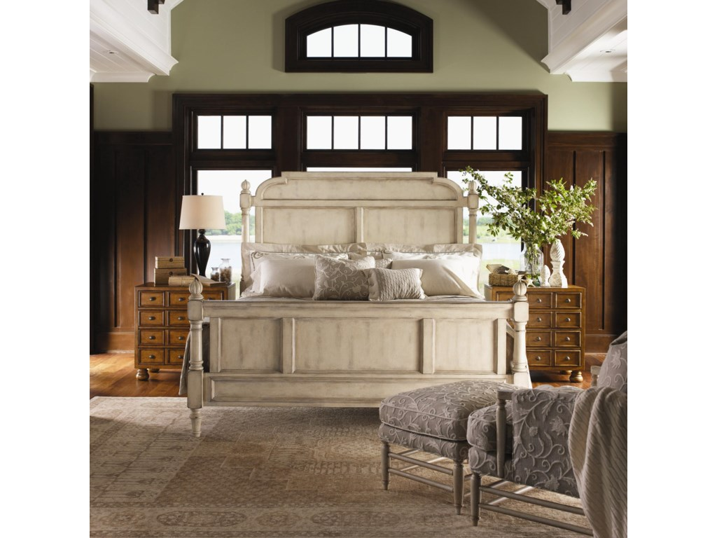 Shown with Isabella Chair and Ottoman, and Brandon Bunching Chests in Chestnut Finish