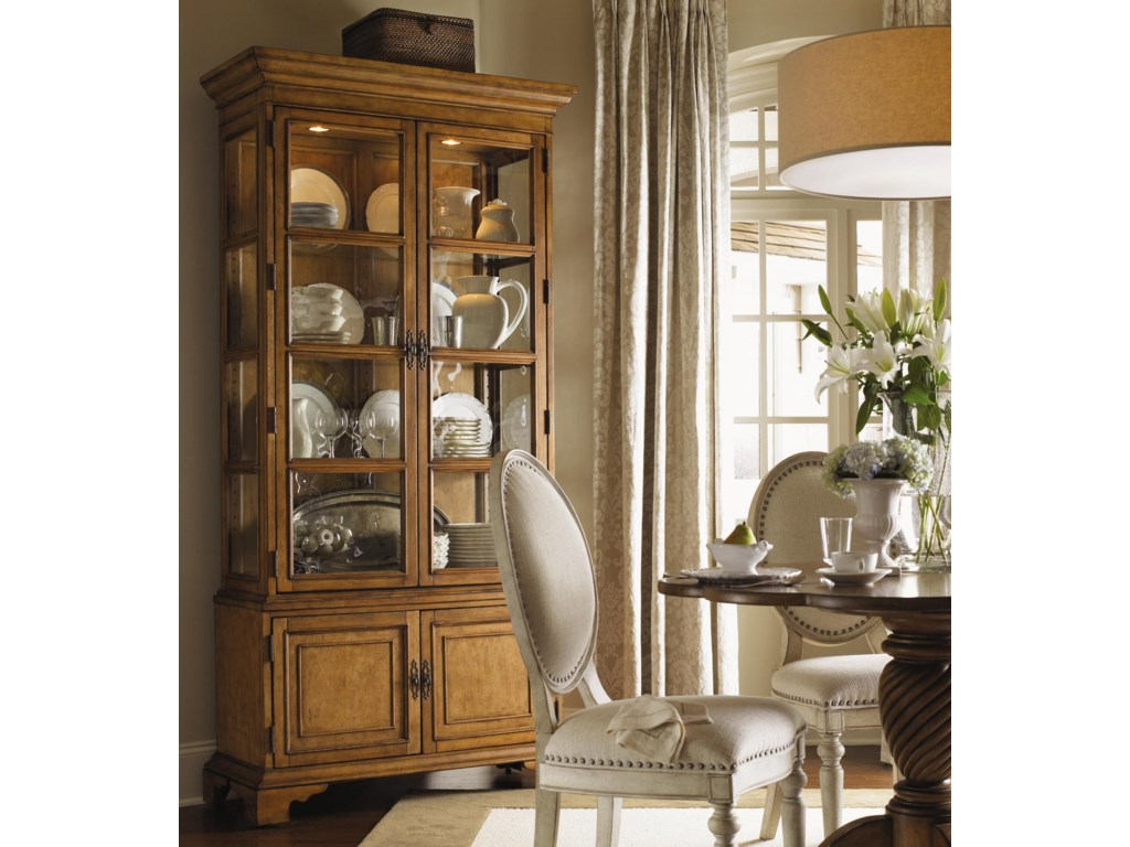 Shown with Barrett Dining Table and Pierpoint Display Cabinet, Both in Chestnut Finish