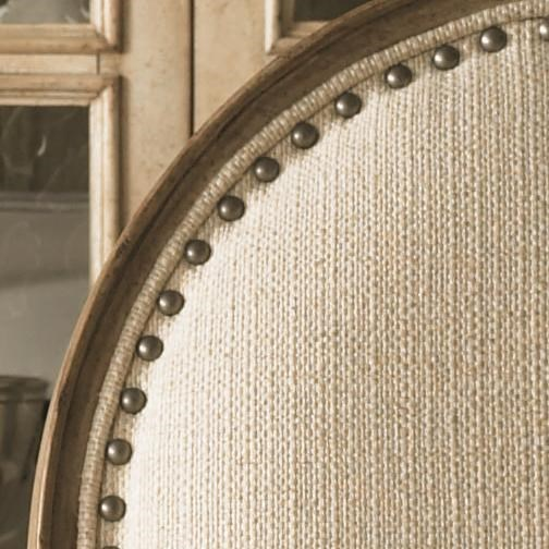 A Pewter Nail Head Trim Adds Whimsical Design to the Byerly Side Chair