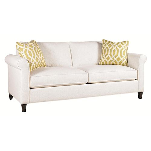 Lexington Urban Spaces - Conran Transitional Stationary Sofa with Sock Arm and Wood Leg