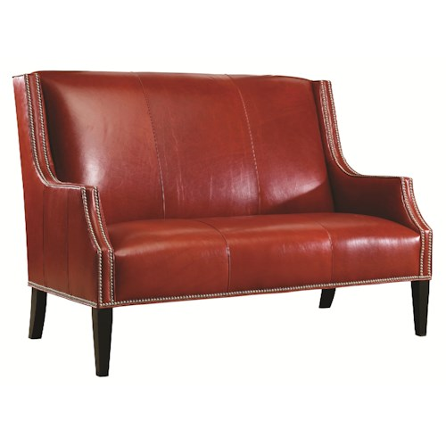 Lexington Urban Spaces - Turino Transitional Settee with Nailhead Trim