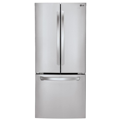 LG Appliances Bottom Freezer Refrigerators ENERGY STAR® 28 Cu.Ft. 3-Door Large Capacity French Door Refrigerator