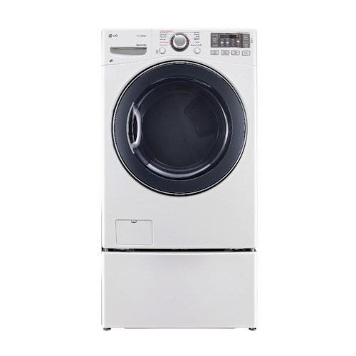 LG Appliances Dryers 7.4 Cu. Ft. Front-Load Electric Ultra Large High Efficiency SteamDryer™ with SmartDiagnosis™ Technology