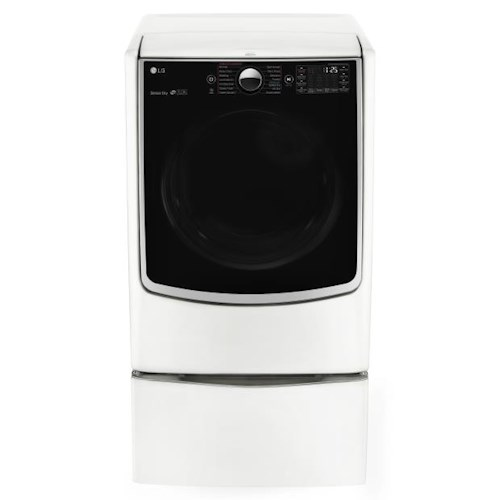 LG Appliances Dryers 7.4 Cu. Ft. Electric Steam Dryer with SteamSanitary Turbo Steam