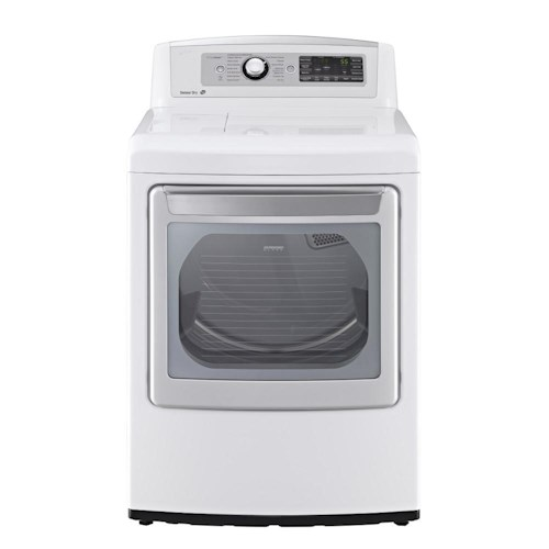 LG Appliances Dryers 7.3 Cu. Ft. Front-Load Electric Ultra Large High Efficiency SteamDryer™ with SteamSanitary™