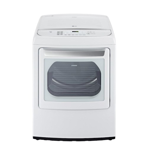 LG Appliances Dryers 7.3 Cu. Ft. Front-Load Electric Ultra Large High Efficiency SteamDryer™ with LoDecibel™ Quiet Operation