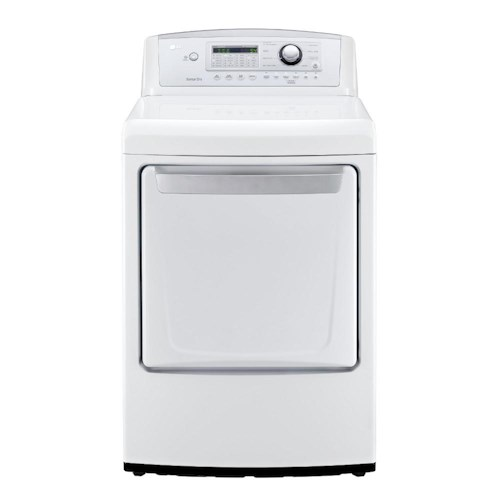 LG Appliances Dryers 7.3 Cu. Ft. Ultra Large Capacity Front Load Gas Dryer with Modern Electronic Front Control Design