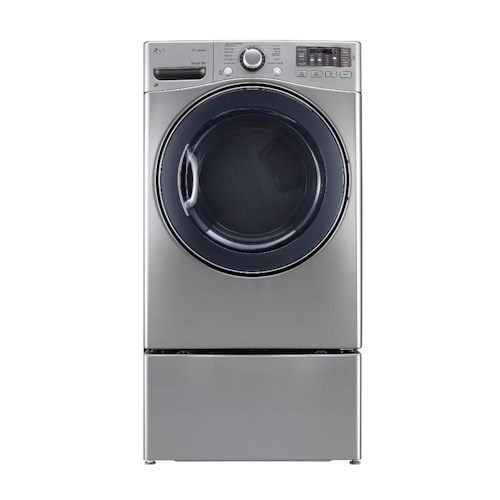 LG Appliances Dryers 7.4 Cu. Ft. Front Load Gas Steam Dryer with Stainless Steel Drum