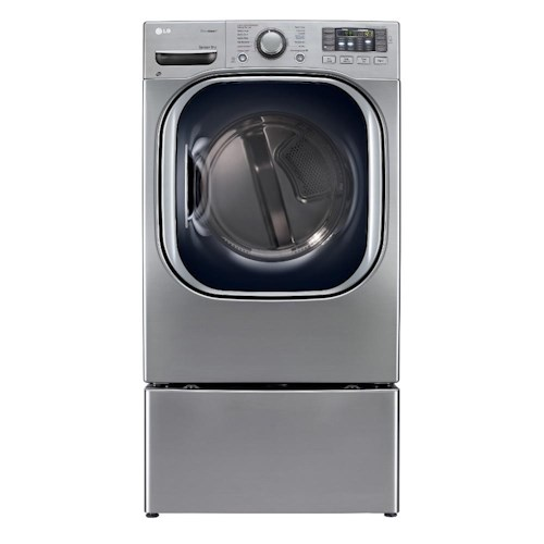 LG Appliances Dryers ENERGY STAR® 7.4 Cu. Ft. Ultra Large Capacity Gas SteamDryer™ with NeveRust™ Stainless Steel Drum