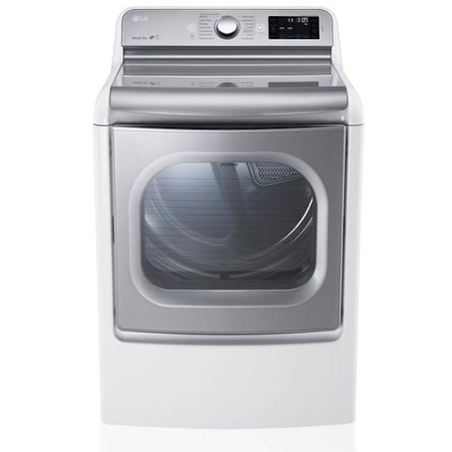 LG Appliances Dryers 9.0 Cu. Ft. Mega  Capacity Gas Steam Dryer With Easyload™ Door