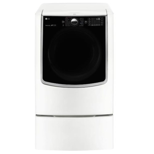 LG Appliances Dryers 9.0 Cu. Ft. Ultra Large Gas Dryer with SteamSanitary Turbo Steam™