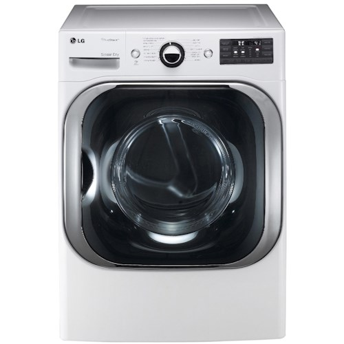 LG Appliances Electric Dryers 9.0 Cu. Ft. Front-Load Electric Dryer with TrueSteam™ Technology