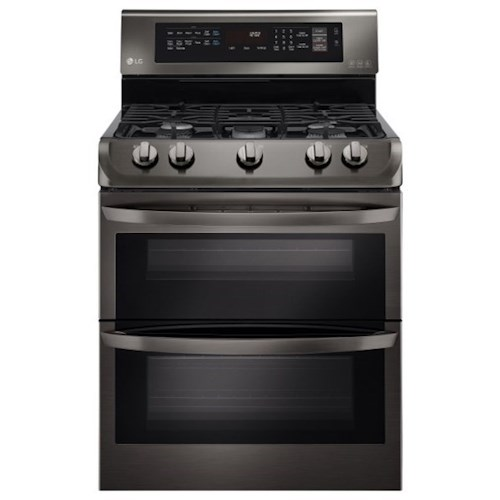LG Appliances Electric Ranges 7.3 cu. ft. Electric Double Oven Range with ProBake Convection™, EasyClean® and Infrared Grill System