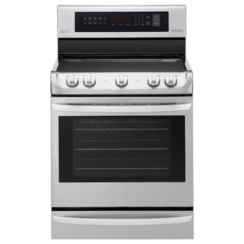 LG Appliances Electric Ranges 6.3 cu. ft Electric Single Oven Range with ProBake Convection™ and EasyClean®