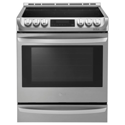 LG Appliances Electric Ranges 6.3 cu. ft. Electric Slide-in Range with ProBake Convection™ and EasyClean®