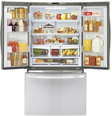 3-Door French Door Cabinet Depth Refrigerator with Ice Plus™