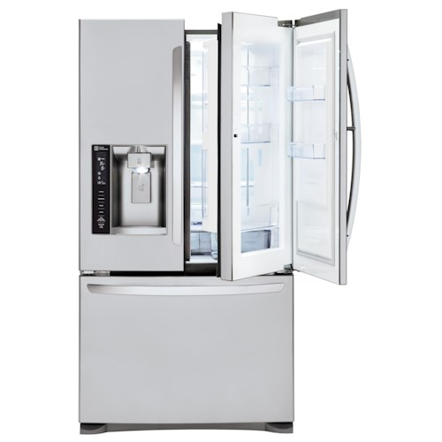 LG Appliances French Door Refrigerators 24 Cu. Ft. ENERG Y STAR® 3 Door French Door Refrigerator