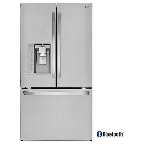 LG Appliances French Door Refrigerators Super- Capacity French Door Refrigerator w/Door-in-Door® & Bluetooth® Speaker