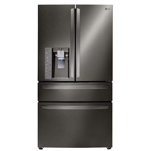 LG Appliances French Door Refrigerators 23 Cu. Ft. Large Capacity Counter Depth 4-Door French Door Refrigerator with CustomChill™ Drawer