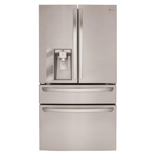 LG Appliances French Door Refrigerators 30 Cu. Ft. Super Capacity 4-Door French Door Refrigerator with CustomChill™ Drawer and Kimchi Bins