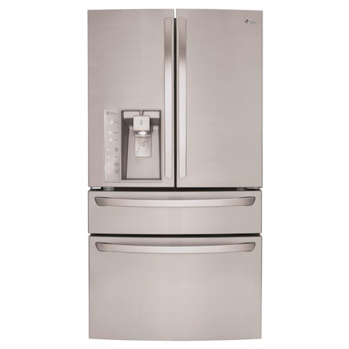 LG Appliances French Door Refrigerators 30 Cu. Ft. Super Capacity 4-Door French Door Refrigerator with CustomChill™ Drawer