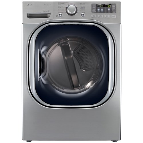 LG Appliances Gas Dryers 7.4 Cu. Ft. Ultra Large Capacity Gas Front-Load SteamDryer™