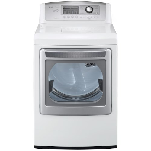 LG Appliances Gas Dryers 7.3 Cu. Ft. Front-Load Gas SteamDryer™ with NeveRust™ Stainless Steel Drum