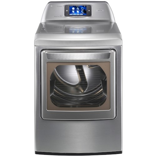 LG Appliances Gas Dryers 7.3 Cu. Ft. Front-Load Gas Dryer with Smart ThinQ™ Technology