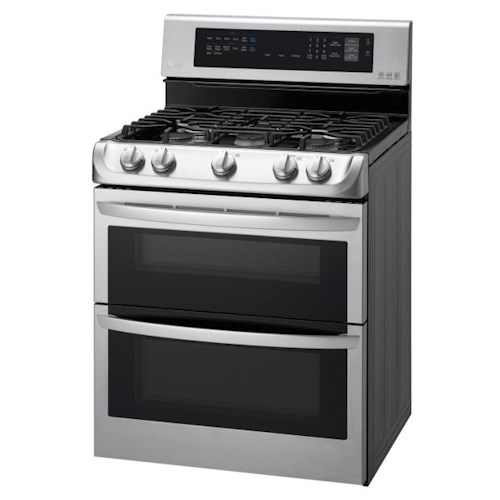 LG Appliances Gas Ranges 6.9 Cu. Ft. Gas Double Oven Range with ProBake Convection™, EasyClean®