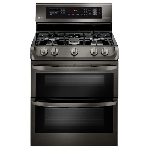 LG Appliances Gas Ranges 6.9 Cu. Ft. Gas Double Oven Range with ProBake Convection™, EasyClean® and Gliding Rack