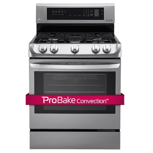 LG Appliances Gas Ranges 6.3 Cu. Ft. Gas Range with ProBake Convection™and EasyClean®