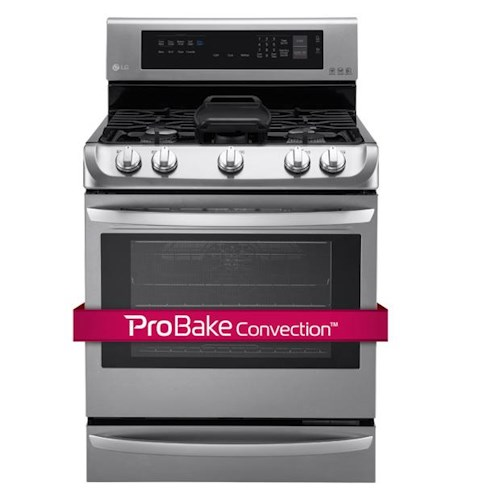 LG Appliances Gas Ranges 6.3 Cu. Ft. Gas Single Oven Range with ProBake Convection™, EasyClean® and Warming Drawer