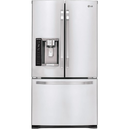 LG Appliances LG Studio Series 20.5 Cu. Ft. Counter Depth French Door Refrigerator with Slim SpacePlus™ Ice System