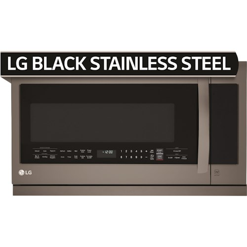 LG Appliances Microwaves- LG Black Stainless Steel Series 2.2 Cu. Ft. Over the Range Microwave