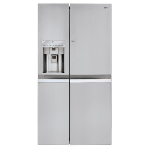 LG Appliances Side by Side Refrigerators 21.6 Cu. Ft. Side-by-Side Refrigerator with Door-in-Door®
