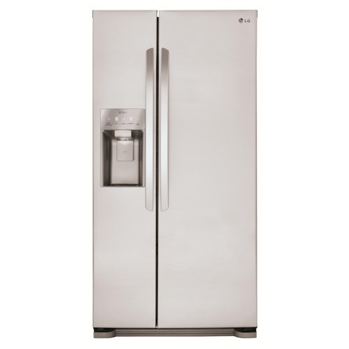 LG Appliances Side by Side Refrigerators ENERGY STAR® 22 cu. ft. Side by Side Refrigerator with SpacePlus® Ice System