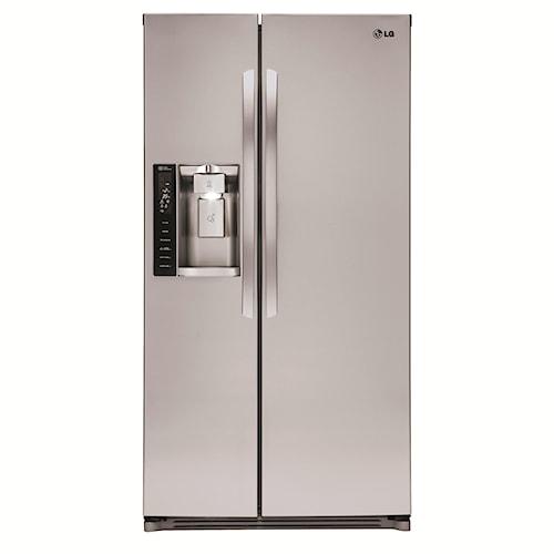LG Appliances Side by Side Refrigerators 26 cu. ft. Side by Side Refrigerator with SpacePlus® Ice System