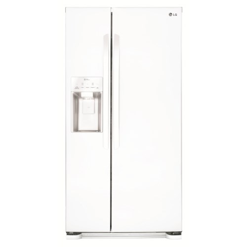 LG Appliances Side by Side Refrigerators 26 cu. ft. Side by Side Refrigerator with SpacePlus® Ice System