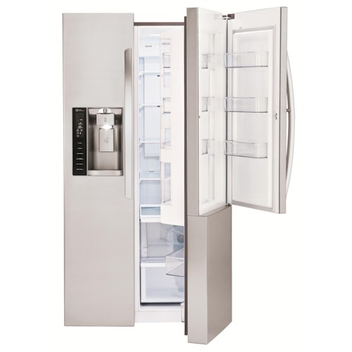 LG Appliances Side by Side Refrigerators ENERGY STAR® 26 cu. ft. Side by Side Refrigerator with Door-In-Door®