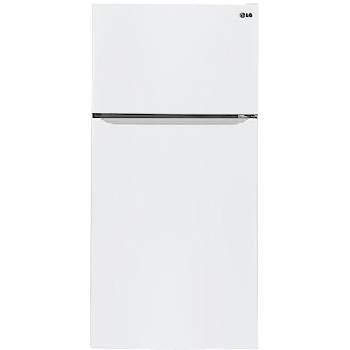 LG Appliances Top-Freezer Refrigerator 24 Cu. Ft. Top-Freezer Refrigerator with Electronic Temperature Controls