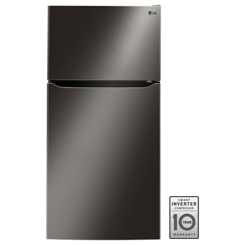 "LG Appliances Top-Freezer Refrigerator - LG 24 Cu. Ft Large Capacity 33"" Wide Top Freezer Refrigerator"