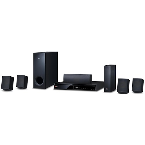 LG Electronics Home Theater 1,000 Watt 5.1 Channel Smart Home Theater System with Blu-Ray Player and Wireless Speakers