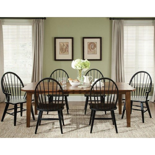 Liberty Furniture Bunker Hill 7PC Dining Table & Chair Set